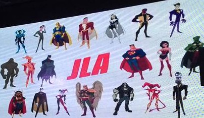 Some of the faces - friendly and otherwise - that you'll see on Justice League Action.