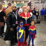 The Captains Marvel, Ms. Marvel, and Nick Fury