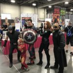 Wolverine, Iron Man, Captain America, Black Widow, and Nick Fury